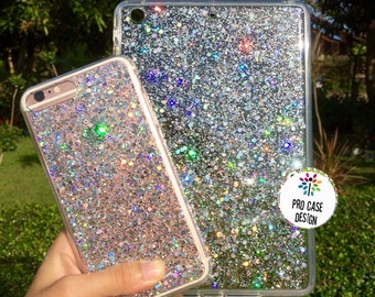 Silver flex case , iphone case, glittercase, Iphone 6 /6 plus, iPhone 5/5s, iPhone 4/4s, Samsung glitter case,silver glitter, sparkle case
