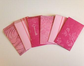 Pink Gift Card Envelopes (Set of 6)
