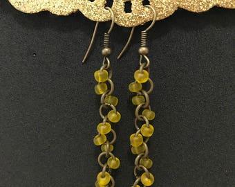 "No.13 ""Sunshine"" Earrings (Antique Bronze)"