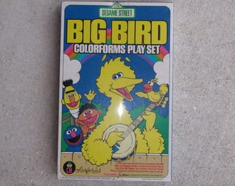 New Sealed 1986 BIG BIRD Colorforms Play Set Sesame Street Muppets