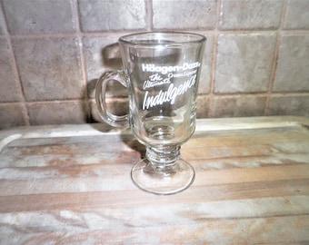 Vintage Haagen-Dazs Indulgence drinking glass