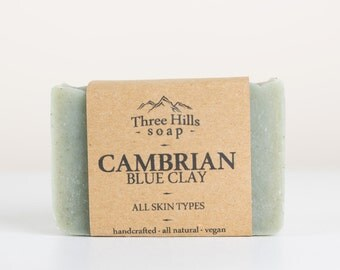 Cambrian Blue Clay, All Natural Soap, Handmade Soap, All Skin Types, Vegan Soap, Unscented Soap, Face and Body Soap, Women Soap, Men Soap