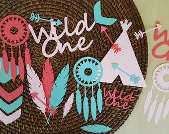 Jumbo Confetti, Wild One Confetti, Wild One Party, Wild One, Boho Party, Tribal Party, Wild One Birthday, Boho Confetti, Tribal Confetti