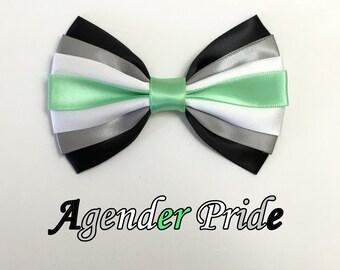 Agender Pride Bow