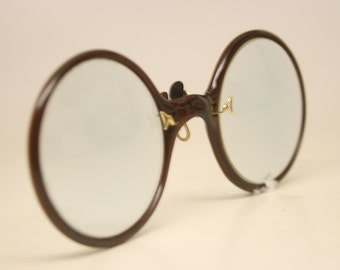 Antique Small Hard Bridge Pince Nez Eyeglasses