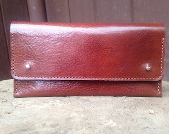Leather Clutch - Cognac Brown - Womens Wallet, Clutch Bag, Leather Purse, Leather Pouch, Gift For Her