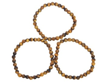 WholesaleGemShop Tiger Eye 6 mm Bracelet with Free Shipping
