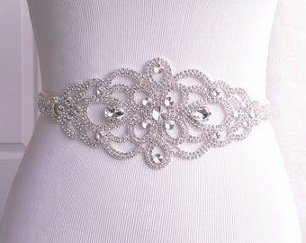 Wedding Belt, Bridal Sash, Crystal Bridal Belt, Style 1112