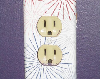 Outlet Cover Fireworks  Wallplate