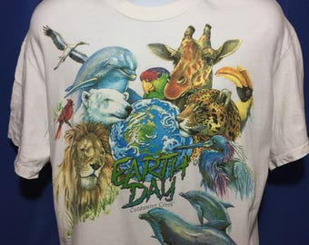 Vintage 1993 Earth Day t shirt *M/L