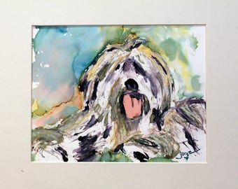 COMMISSION to get an ORIGINAL water color of your pet, college, trip, house, school, .... by Jorge Garza