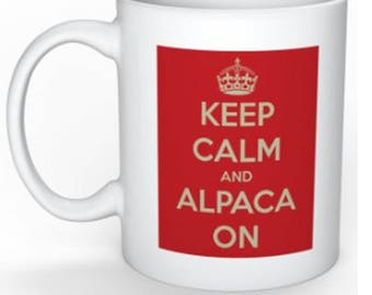 Alpaca Printed Coffee Mugs