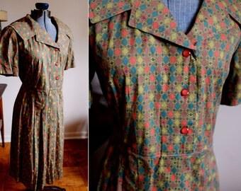 Medium  - Plaid Cotton Dress