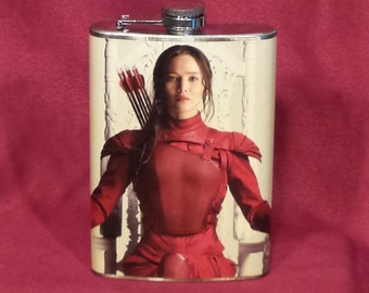 Katniss Everdeen Hunger Games - 8 oz stainless steel flask