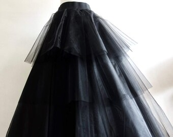Black Tulle Layered Skirt, made to measure any size