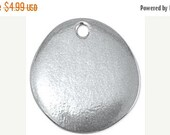 50% Off 2 Soft Pewter Stamping Blanks, 'River Stone' shape  by ImpressArt, Made in USA