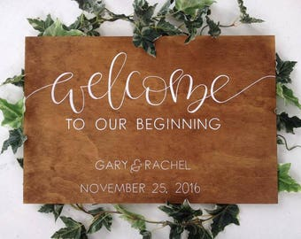 Ply Wood Welcome Sign | Welcome to our wedding sign | Wedding sign | Wedding décor