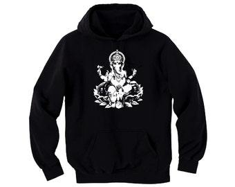 Yoga wear Hindu culture Ganesh Godess women/men/junior black hoodie
