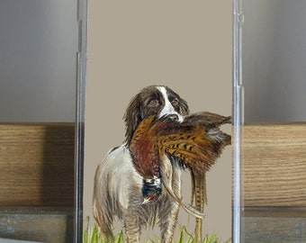 Spaniel With Pheasant Hunting Scene iPhone Case