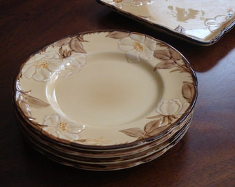 Franciscan CAFE ROYAL Microwave Tray and Four Salad or Dessert Plates!