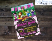 Print or Digital | Girl | Mickey Minnie Roadster Racers Invitation | Birthday Party | Thank You | Customizable | Happy Helpers