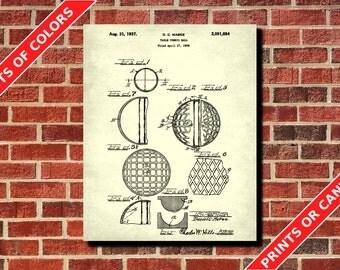 Table Tennis Patent Print, Ping Pong Wall Art, Table Tennis Poster, Man cave Decor, Table Tennis ball Blueprint, Ping Pong Ball