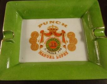 Vintage Punch Manuel Lopez Ashtray