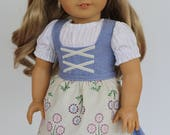 CUSTOM For Natalie - Dirndle, to fit like American Girl Doll Clothes