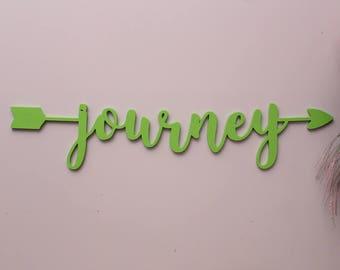 Journey Arrow Wood Sign, Travellers Gift, Journey Sign, Custom Arrow Sign, Home Decor, Gallery Wall Art, Feature Wall Decor, Nursery Decor