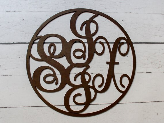 letter circle monogram by craftylittlenodes 4 letter monogram circle wood monogram nursery by 4