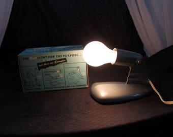 Gray Metal Moe Heat Lamp with Box M- 77