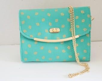 Golden Strawberries Clutch Handbag