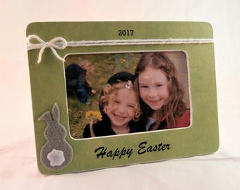 First Easter baby girl easter photo props for kids bunny frame