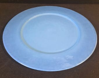 Yalos Casa Murano Opalescent Blue Centerpiece Plate