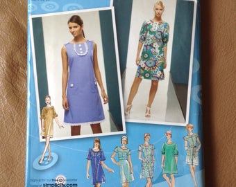Simplicity Uncut Sewing Pattern 2995, Project Runway Dresses, sizes D5,6,8,10,12