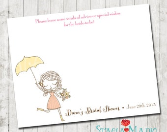 Brides to Be Advice Bridal Shower Card