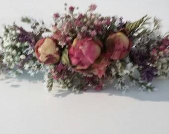 Beautiful Bespoke Handmade Floral HAIR VINE Wedding Hair Piece, Bride, Bridesmaid, Flowergirl, Halo, Circlet, Comb, Crown, Garland, Grip