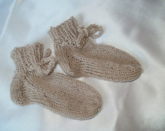 Hand-knitted baby socks