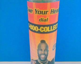 Mister T Two Sided Glass Container Candle, The A Team, Mr. T, Container Candle, Mr T Candle, Retro Candle, 1970s Candle, Made By Mod.