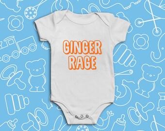 Ginger Rage Babygrow Bodysuit / Vest / Onesie | Funny | Redhead
