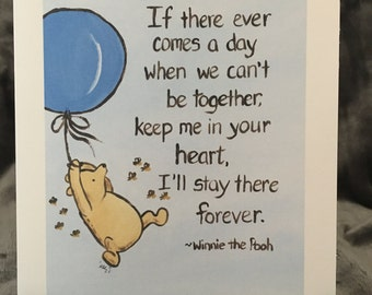 thinking of you card classic winnie the pooh greeting card i love you being together miss you saying goodby going away love