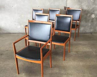 Set of Six Danish Modern Dining Chairs by Vejle Stole (TKT1ZU)
