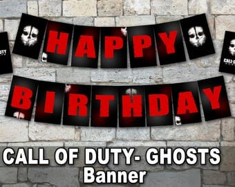 CALL of DUTY - GHOSTS Banner– Digital file, Call Of Duty party, cod ghosts party's decoration, Ghosts, War party, Video Games Digital file