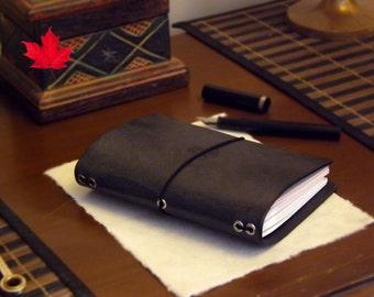 Leather A6 size - Midori Travelers Notebook - Molskine - Passport - Fauxdori - Personal - diary - planner
