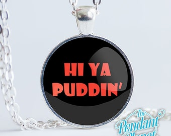 Harley Quinn necklace, Hi Ya Puddin, geek gifts, batman jewelry, Mister J, gifts for her, girlfriend gifts, fandom gifts, comic book gifts