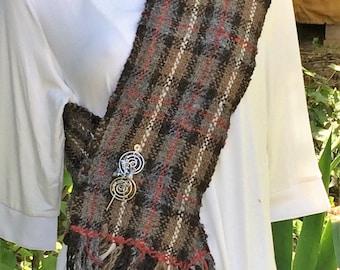 Handwoven scarf  Outlander scarf  Scotland Outlander scarf  Outlander shawl  Outlander  Woven skinny scarf  Hand woven scarf  Outlander gift