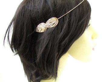 Light Rose Gold Leaf Headband Headpiece Cuff Grecian Vine Hair Laurel Roman 958
