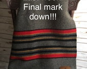 Pendleton Wool Blanket Pendleton Camp Blanket Woo Blanket Vintage  Blanket Twin Size Blanket