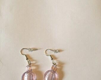 Earrings ( pale Pink drop dangly )