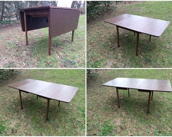 Mid Century Dining Table   Mid Century Drop Leaf Table